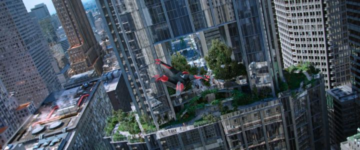 What New York building does Spider-Man glide through in Far From Home?