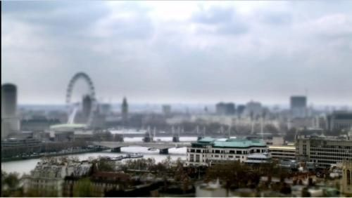 Why are the landscape shots in Sherlock so blurry?