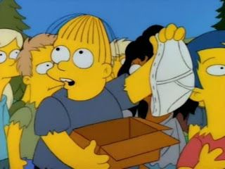 Was there ever an explanation for the change in Ralph's character in the Simpsons?