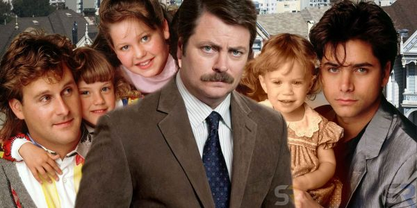 Full House Cast Is Replaced by Nick Offerman in Bizarre Mashup