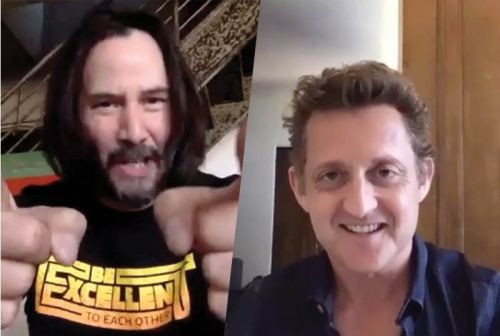Bill & Ted's Reeves & Winter Gave San Dimas High Commencement