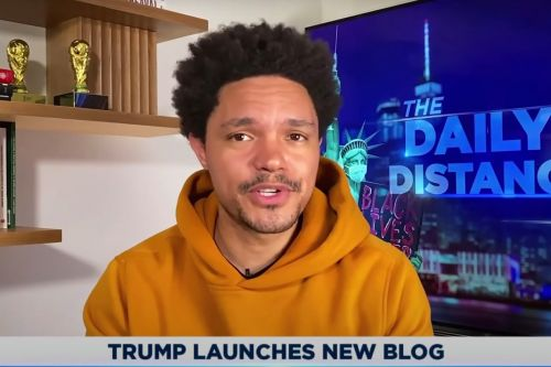 "Trevor Noah Rips Donald Trump's New Social Media Platform: ""He Just Ended Up Making a Blog"""