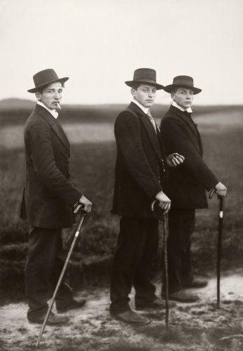 """An Emotional Journey into the Heart of August Sander's Iconic Photograph, """"Three Farmers on Their Way to a Dance"""""""